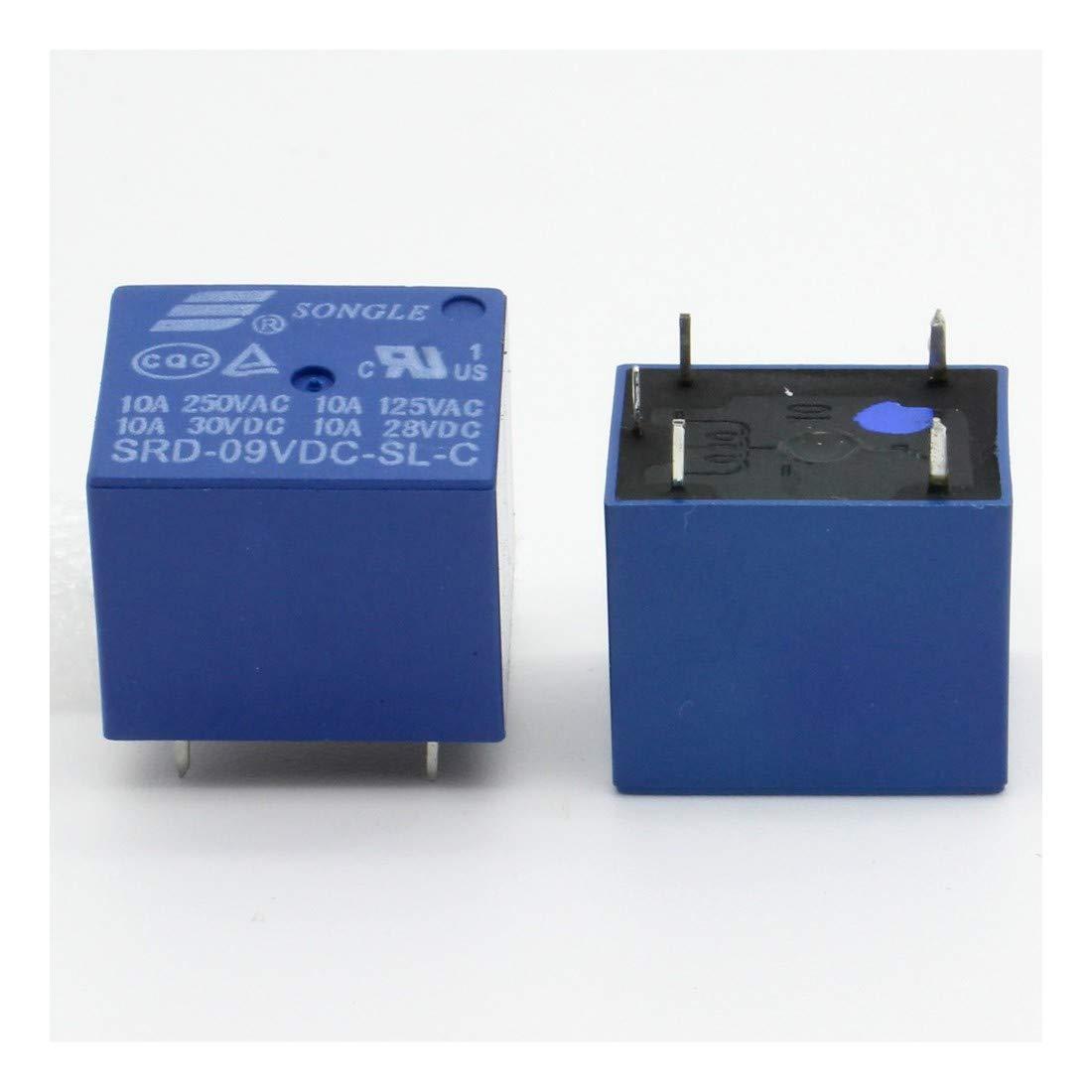 Relais puissance SRD-9V-SL-C 9v 10A 5 pins T73-33rel005