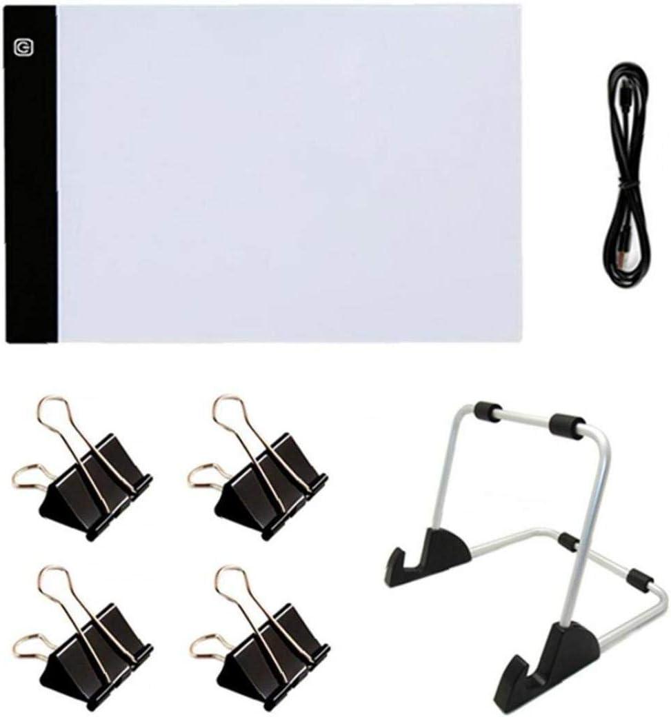 KHHGTYFYTFTY 5D Diamante Pintura A4 luz LED Pad Kit Que Incluye 4 Secuencias 1 emisores de luz para Luces Junta 1 1 Cable USB para el Diamante Pintura 7PCS