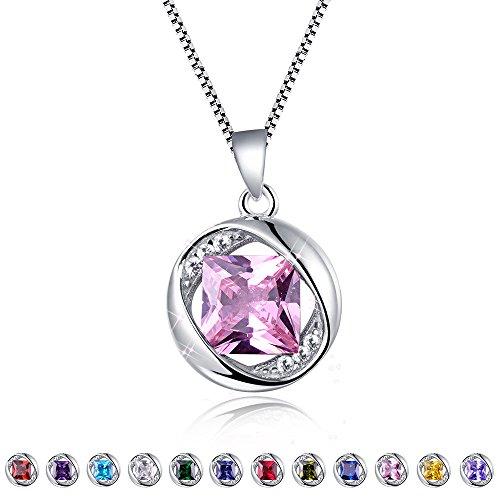 October Birthstone Girl Pendant - Aurora Tears Rose Pendant October Birthstone Necklace for Women 17.7