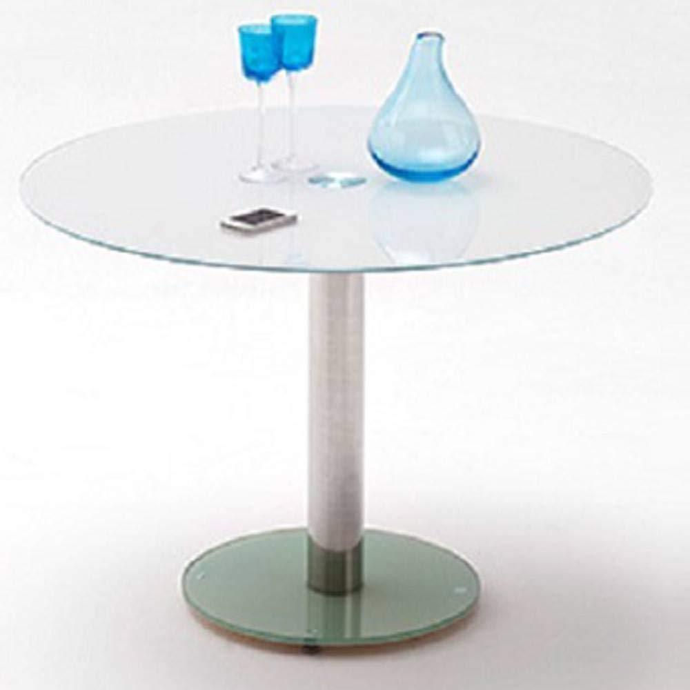 Mesa Comedor Redonda Design Faten en Cristal Blanco: Amazon.es: Hogar