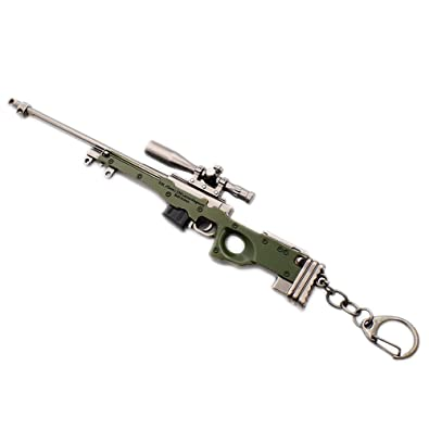 N Egret Pubg Awm Sniper Rifle Jewelry Keychain Gaming Gift Ring For Teammate Best Friend