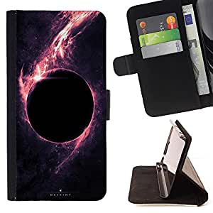 Super Marley Shop - Leather Foilo Wallet Cover Case with Magnetic Closure FOR Sony Xperia Z1 C6902 C6903 C6906- Moon Space