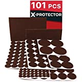 X-PROTECTOR Premium CLASSIC Pack Furniture Pads 101 piece! Felt Pads Furniture Feet  Your Best Wood Floor Protectors. Protect Your Hardwood & Laminate Flooring with 100% Satisfaction!