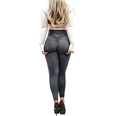 Bbalizko Womens Sport Yoga Pants Stretchy Skinny High Waisted Solid Long Workout Leggings at Women's Clothing store
