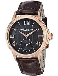 Stuhrling Mens 384.3345K54 Prestige Brown/Grey Stainless Steel Watch