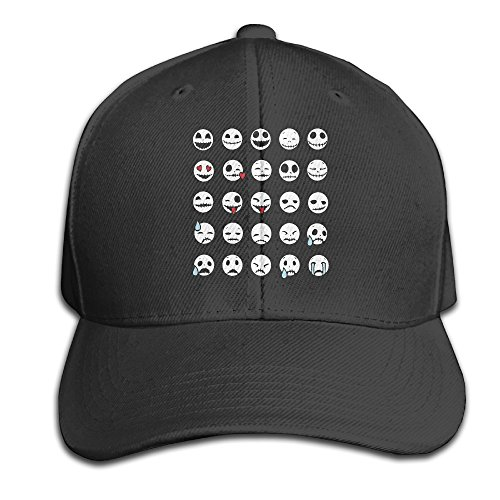 Karoda Emoti Skeletons Adjustable Baseball Cap/Hat Hip Hop Hat Black