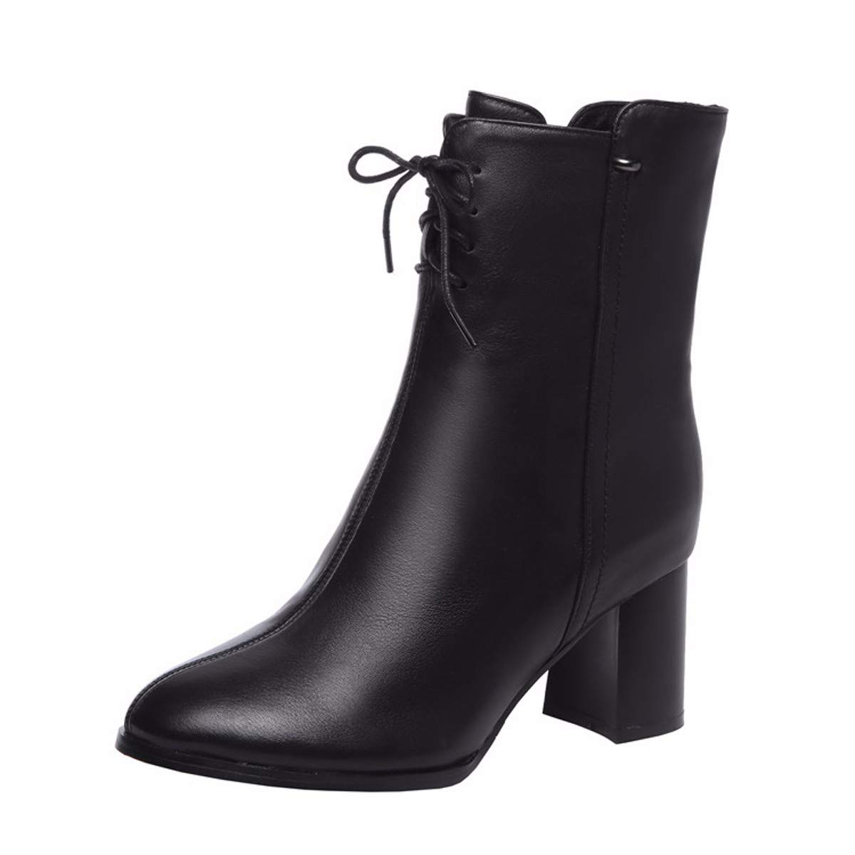 KOKQSX-Damen - Stiefel Mode Leder runden Kopf Kurze Stiefel Stiefel Stiefel hochhackige Stiefel. d3cb18