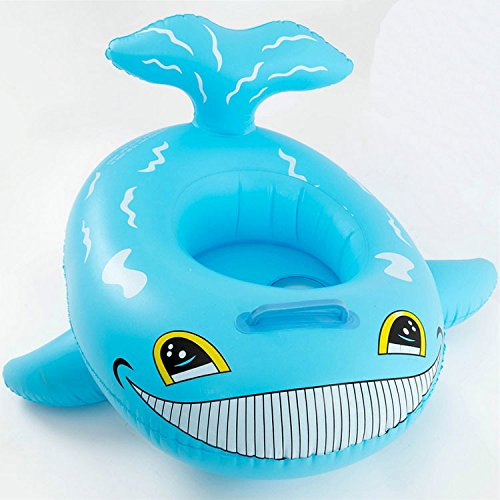 Baby Kids Inflatable Whale Swim Boat Float Water Chair Safety Seat Fun Trainer (Whale Baby Float)
