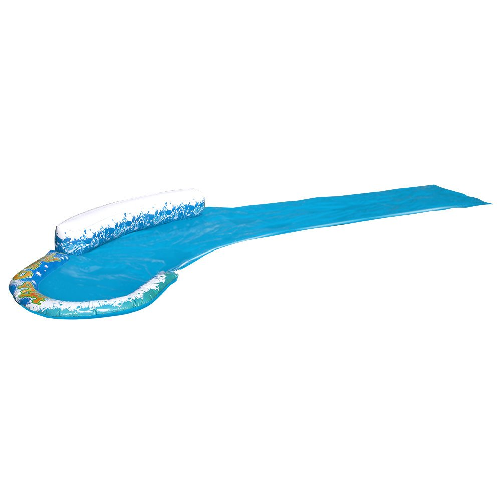 Inflatable Slip N Slide. This Speed Curve Kiddie Blow Up Above Ground Long Water Slide Is Great For Toddlers, Children, Kids. Aqua Splash To Have Outdoor, Backyard Water Fun W/ All Family.