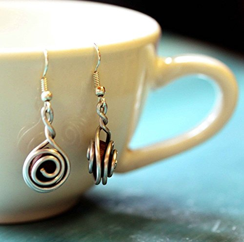 Fair Trade Coffee Bean Earrings for Women: Handmade With Love By The Madres Collective. Ethical jewelry from the Dominican Republic.