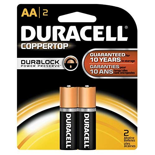 Duracell AA Alkaline Batteries 1.5v (2 Pack) MN1500 (LR6)