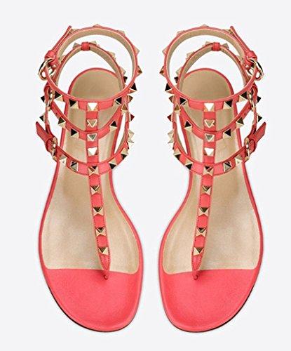 Amy Q - Zapatos de tacón  mujer melocotón