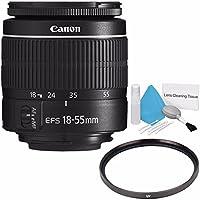 Canon EF-S 18-55mm f/3.5-5.6 III Lens (International Model no Warranty) + 58mm UV Filter + Deluxe Cleaning Kit 6AVE Bundle 8