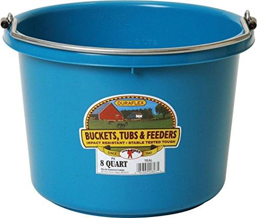 Miller Manufacturing P-8-TEAL 8-Quart Plastic Buckets, Teal