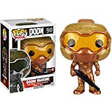 Funko Doom Marine (GameStop Exclusive) POP! Games x Doom Vinyl Figure + 1 Video Games Themed Trading Card Bundle (09638)
