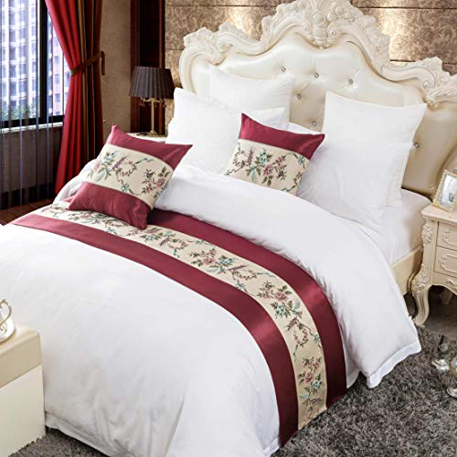 OSVINO Classic Floral Embroidered 100% Polyester Bed