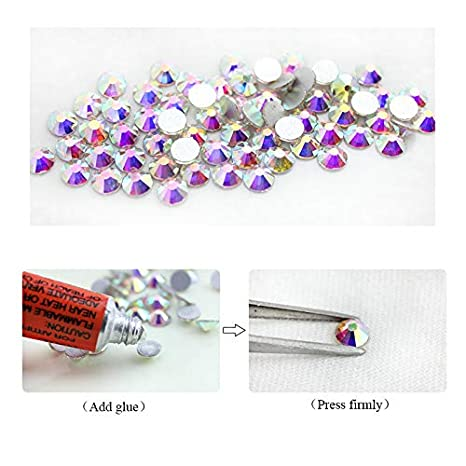 Amazon.com  Songoku123 QIAO Hot fix Rhinestones Iron On Rhinestones For Clothes  SS12 SS16 SS20 SS30 DMC Crystal AB Hot back Glass Stone (SS4 1440pcs)  ... e4400cf4d6a4
