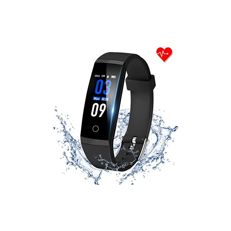 GOOPOW Fitness Tracker HR, Activity Tracker Watch with Heart Rate Monitor, Waterproof Smart Fitness Band with Step Counter, Calorie Counter, Pedometer Watch Kids Women and Men