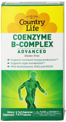 Country Life Coenzyme B Complex Advanced Capsules, 120