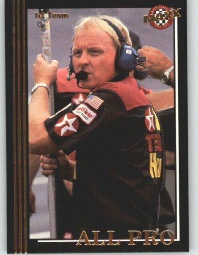 Maxx Nascar Racing - 1992 Maxx Black Racing Card # 234 Larry McReynolds AP - NASCAR Trading Cards (All Pro) - Shipped in Screw Down Case!