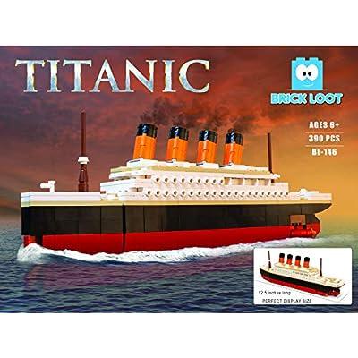 Brick Loot Titanic Building Bricks Set (Large 390 Pieces) 100% Compatible: Toys & Games