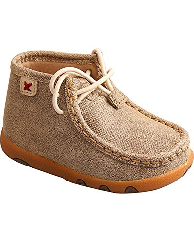 Twisted X Baby Infant Toddler Driving Moccasin Bootie Dusty Tan (2)