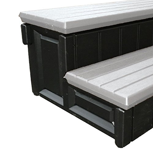 Leisure Accents Deluxe Spa Step, 36 Inches Long, Gray/ Black - http://coolthings.us