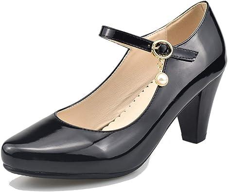 Mekereke Women's Mary Jane Pumps Heels