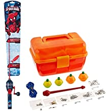 Bundle Includes 2 Items - Shakespeare Spiderman Fishing Kit and South Bend Worm Gear Tackle Box