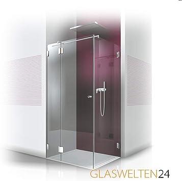 Ducha de cristal a medida, tipo FA-210, cristal de 8 mm, herrajes de marca, cabina de ducha como fabricación, fabricación a medida: Amazon.es: Bricolaje y herramientas
