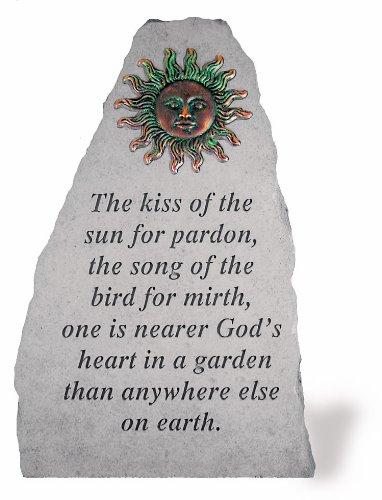 Kay Berry 5590 The Kiss Sun Memorial Garden Stone, Multicolor