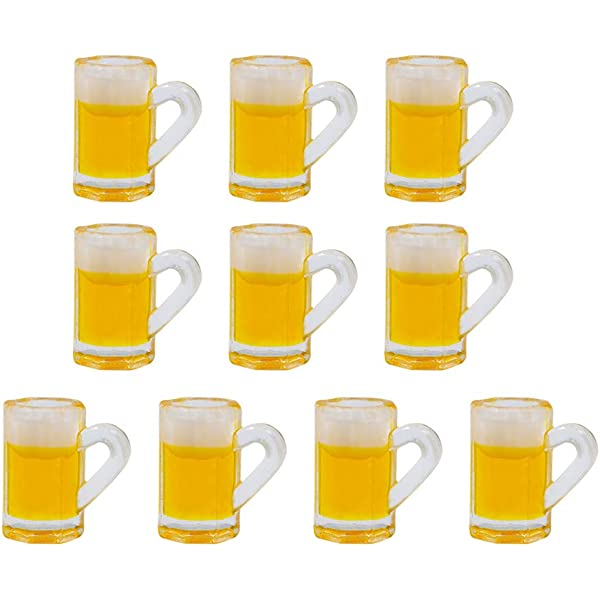 1:12 Scale 2 Beer Glasses Tumdee Dolls House Miniature Lager Accessory Bar GLA23