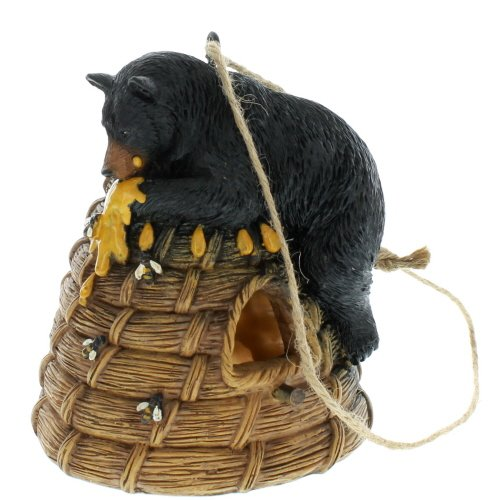 Black Bear on Beehive Bird House