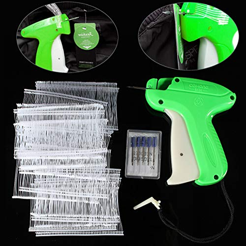 (Price Tagging Gun Label Clothes Garment Tag Machine with 1000 Barbs and 5 Needles - Manual Tools Handheld Price Tag Gun - 1 x Tagging Gun,6 x Needle,1000 x Plastic)
