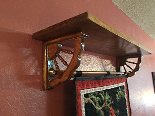 - Custom Quilt Display Shelf, Wall Shelf for hanging quilt, banner, tapestry - spindle bracket - 35-48