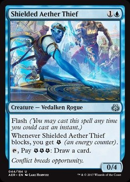 Magic: the Gathering - Shielded Aether Thief (044/184) - Aether Revolt