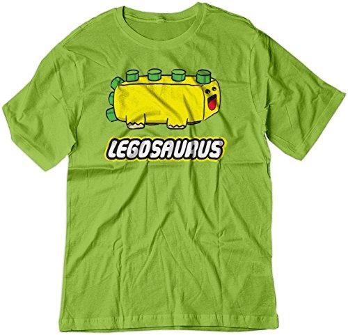 BSW Youth Legosaurus Lego Cute Dinosaur Block Shirt LRG -