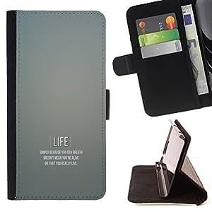 Momo Phone Case / Flip Funda de Cuero Case Cover - Vida motivación;;;;;;;; - Sony Xperia M4 Aqua