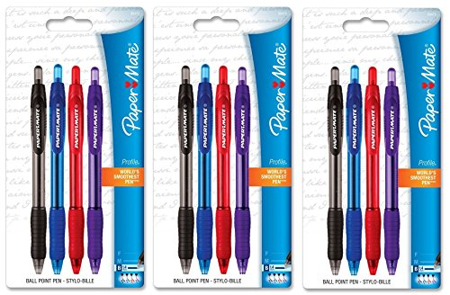 Paper Mate - Profile Retractable Bold Ballpoint Pens, [894730], 3/Pk