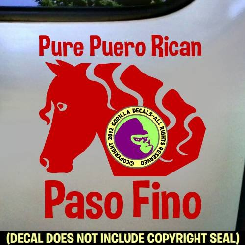 PASO FINO PURE PUERTO RICAN Face Vinyl Decal Sticker E