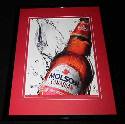 2005 Molson Canadian Lager Beer Framed 11x14 ORIGINAL Advertisement ()
