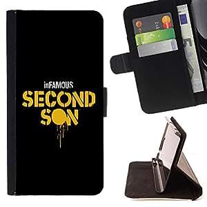 BullDog Case - FOR/Samsung ALPHA G850 / - / Second Son /- Monedero de cuero de la PU Llevar cubierta de la caja con el ID Credit Card Slots Flip funda de cuer