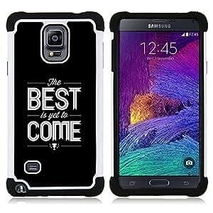 - quote black text white best/ H??brido 3in1 Deluxe Impreso duro Soft Alto Impacto caja de la armadura Defender - SHIMIN CAO - For Samsung Galaxy Note 4 SM-N910 N910
