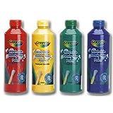 Crayola Washable Paint 4 Pack & Inspirational Fridge Magnet