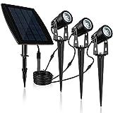 jerayley Solar Spotlights, Upgraded 2-in-1 solar Landscape Lights Wall Light 180 ° Adjustable Waterproof Outdoor Auto On/Off (warm white 3000K)