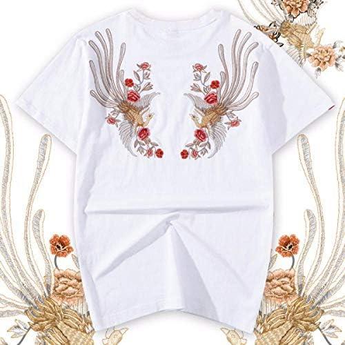QIROG T-Shirt Phoenix Ricamata-Bianco_3XL