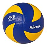 MIKASA FIBA APPROVED volleyball TOP VALUE Series MVA200 (blue and yellow).