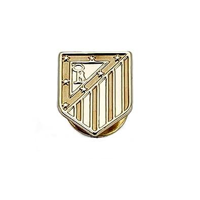 Pin escudo Atlético de Madrid oro de ley 18k 16mm. liso [8440 ...