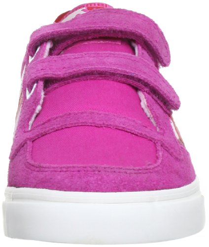 hummel HUMMEL STADIL CANVAS JR LOW - Caña baja de lona infantil rosa - Pink (RASPBERRY/RIBBON RED/WHITE 4009)
