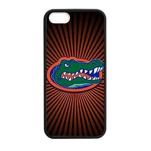 Generic Custom Unique Design NCAA University of Florida Gators Team Logo Plastic and PC Black and White for iPhone5 iPhone5S